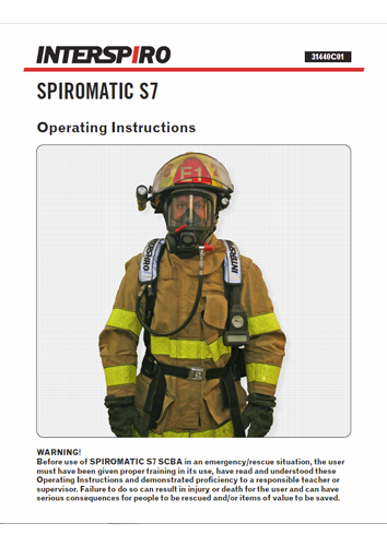 Firefighting user manual: 31440C S7 operating instruction