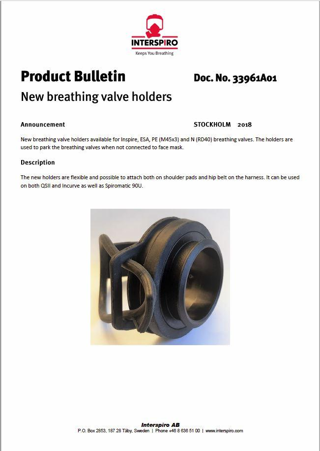 2018 - Product bulletin 33961