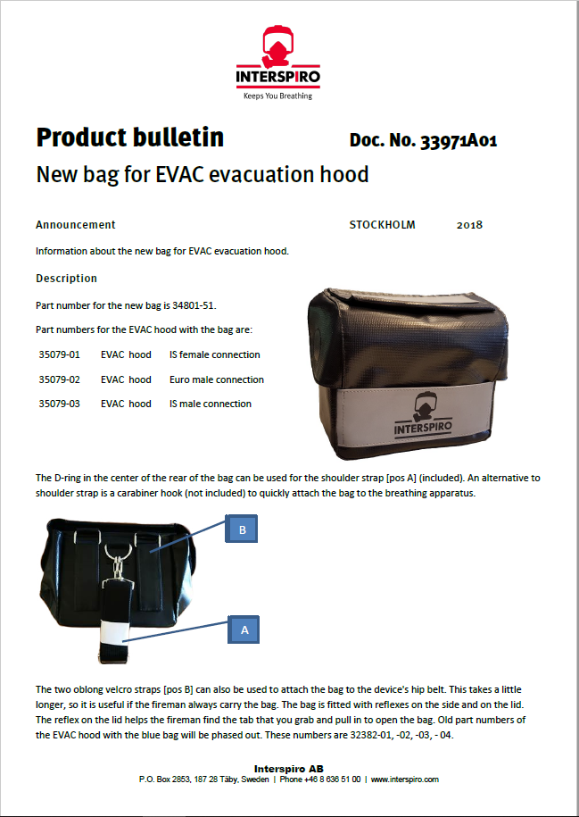 2018 - Product bulletin 33971