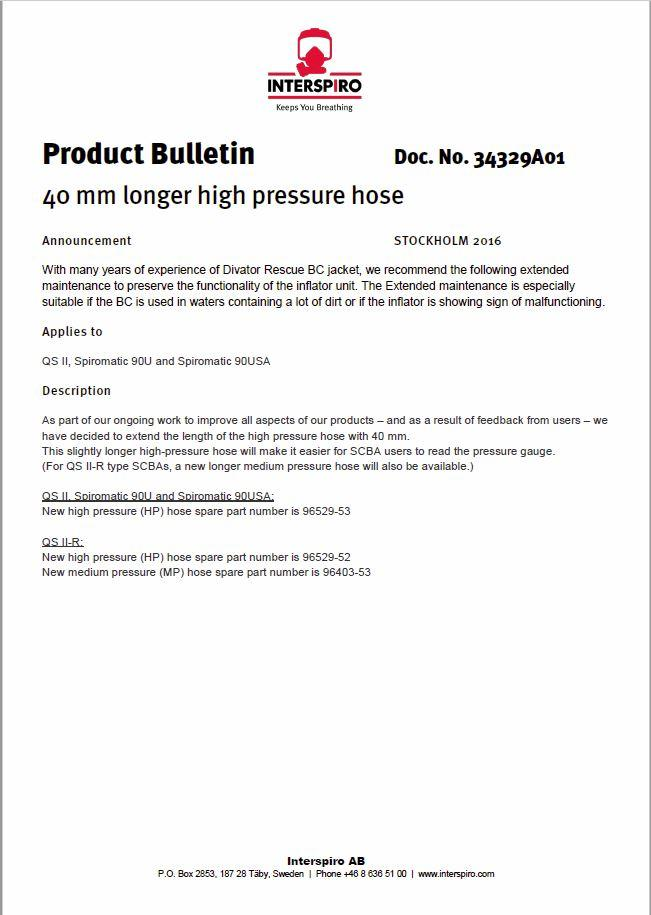 2016 - Product bulletin 34329