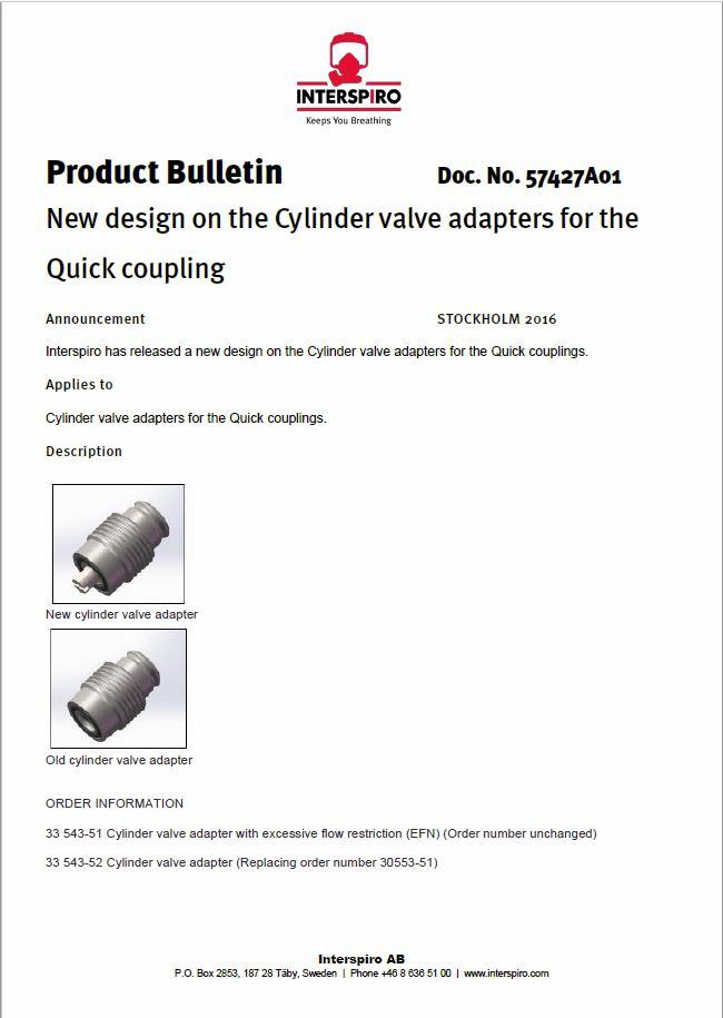 2016 - Product bulletin 57427