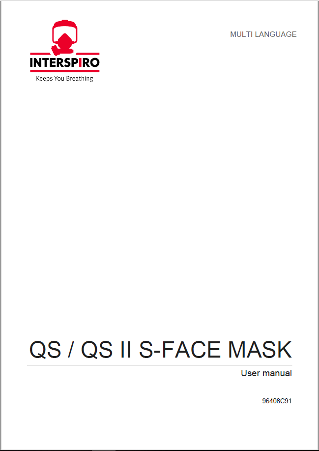 Firefighting user manual: 96408E - QS - QS II S-Face Mask